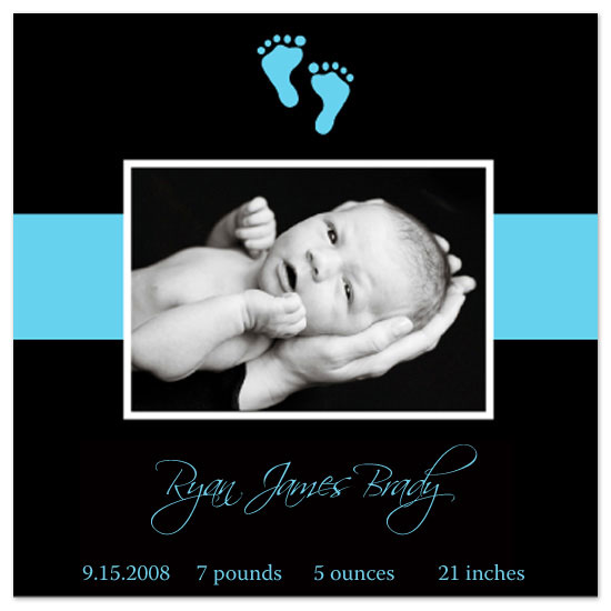 birth announcements - Black and Blue by Kathryn Fischer