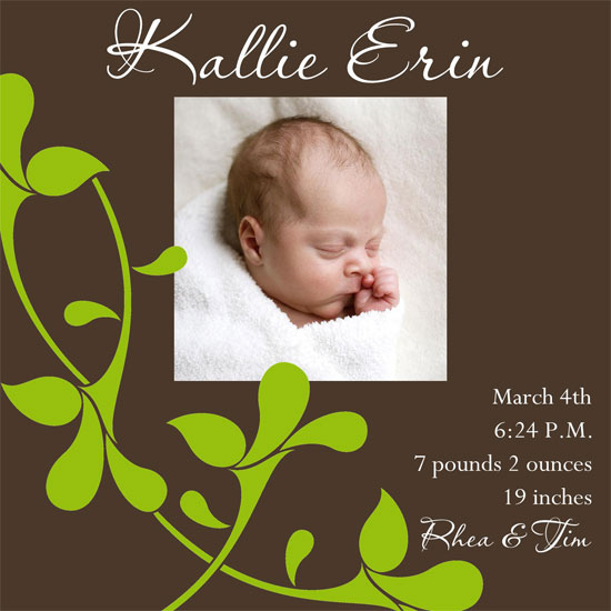 birth announcements - Sweet Moments by 1st Comes Love... Design