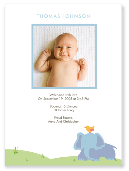 birth announcements - simplicity by Ana Inés Guimaraes