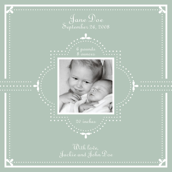 birth announcements - Sweet Baby by Three Kisses Studio