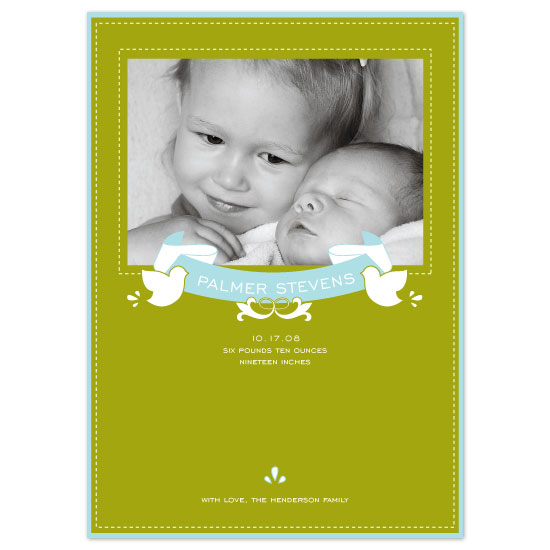 birth announcements - Birds + Banner by SweetBeaker