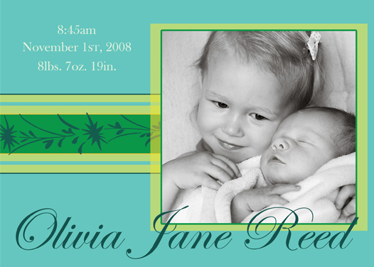 birth announcements - Simply Cool by Megan Eileen Designs