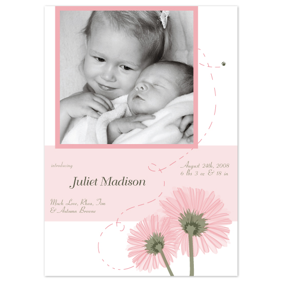 birth announcements - A Pair of Daisies by Candice Leigh