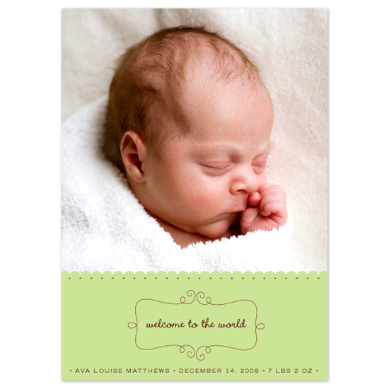 birth announcements - Welcome to the World by Orange Blossom Ink