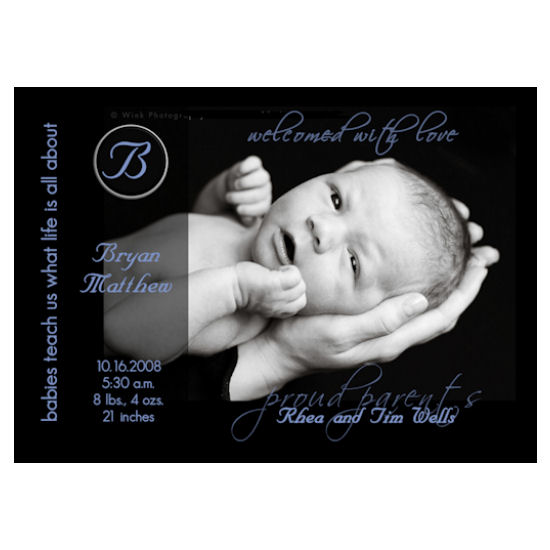 birth announcements - what life is all about by Grafik Expressions