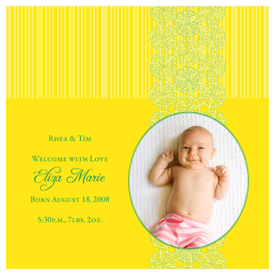birth announcements - Sunny Days by thehouseonbrady