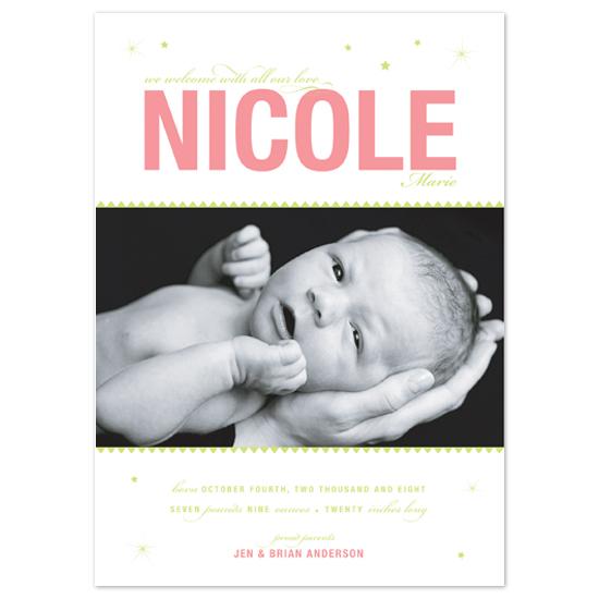 birth announcements - Burst by Ann Rae Creative