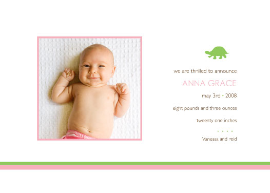 birth announcements - Myrtle by dani notes