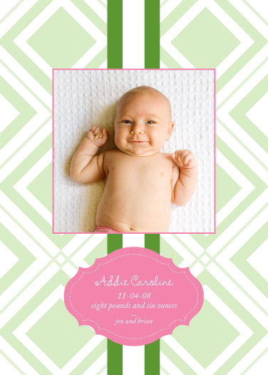 birth announcements - Addie by dani notes