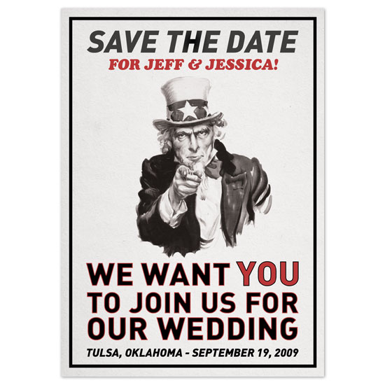 save the date cards - We Want You by Fred Designs