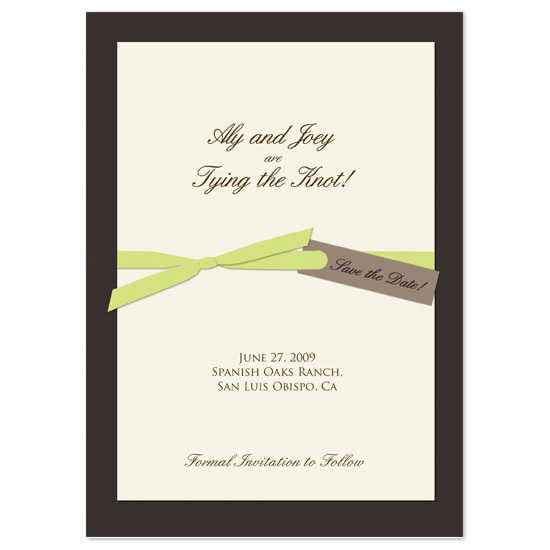 save the date cards - Tying the Knot by Kristy Fischer