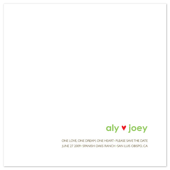 save the date cards - aly loves joey by dani notes