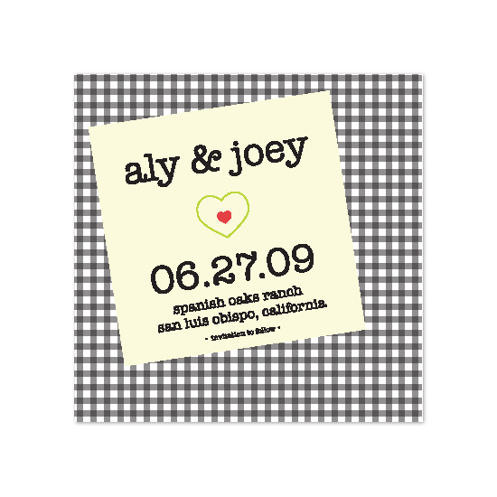 save the date cards - Table Note by Kelsey Donahue