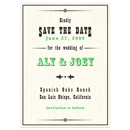 save the date cards - Vintage Western by Zenadia Design