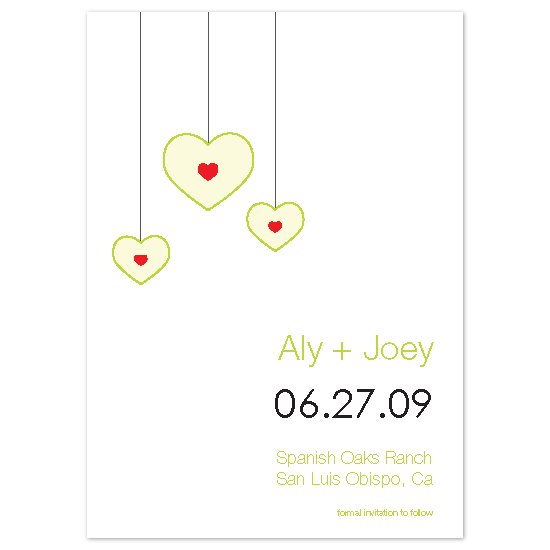 save the date cards - apples by Kelsey Donahue