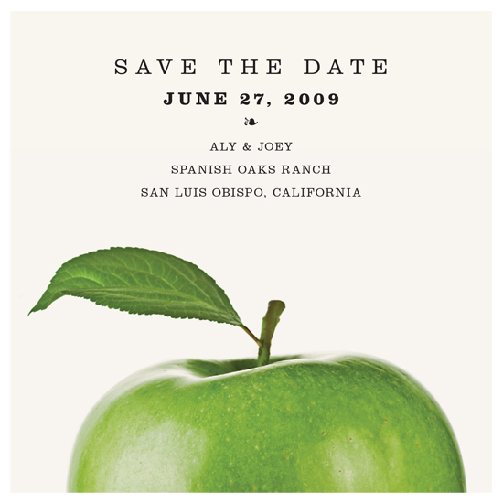 save the date cards - Fresh Apple by Paper Plains