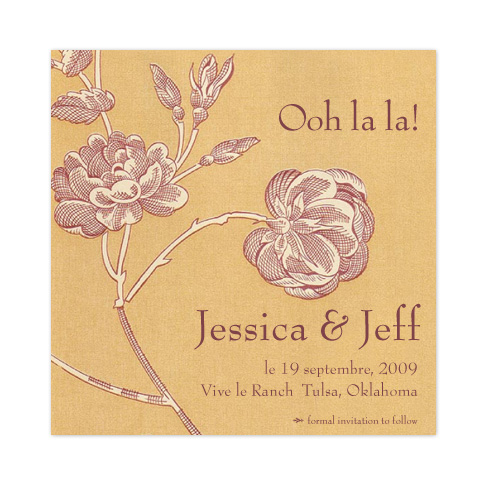 save the date cards - French Rose by Kelsey Donahue
