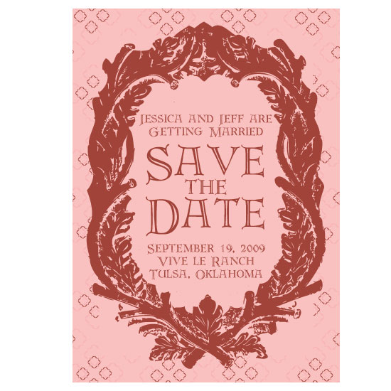 save the date cards - A Fitting Frame by thehouseonbrady