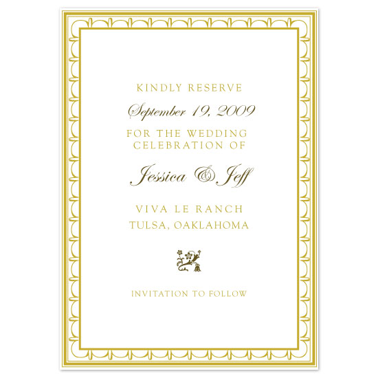 save the date cards - Elégance Chic by Zenadia Design