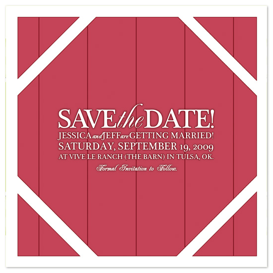 save the date cards - The Barn by Kristy Fischer