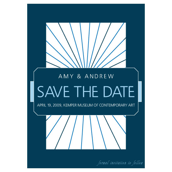 save the date cards - Blue Rhapsody by thehouseonbrady