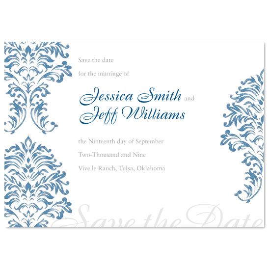 save the date cards - French Rustic by l