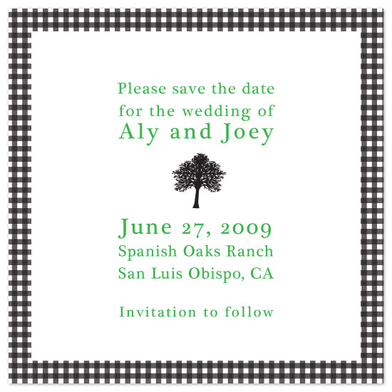 save the date cards - Chic Ranch  by Zenadia Design