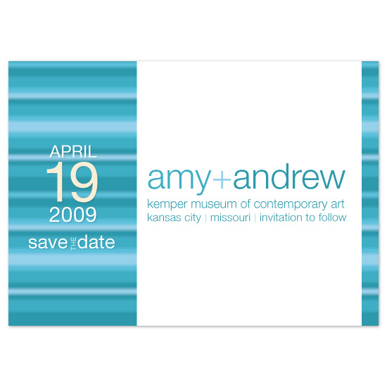 save the date cards - Contempo Blu by Natalie Sullivan Graphic Design