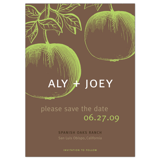save the date cards - apples in the ranch by papermoon