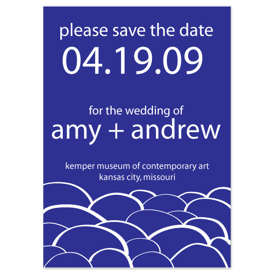 save the date cards - Wave on Wave by kjwdesigns