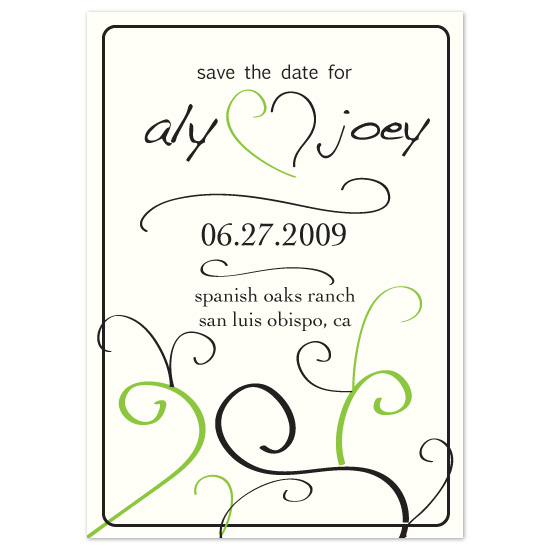 save the date cards - Granny Smith Green by kjwdesigns