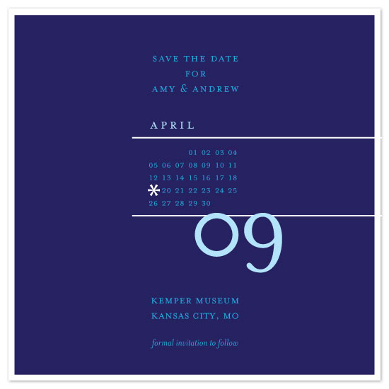 save the date cards - Shades Of Blue by SweetBeaker