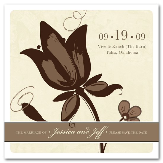 save the date cards - Rustic Chic by Carrie Eckert
