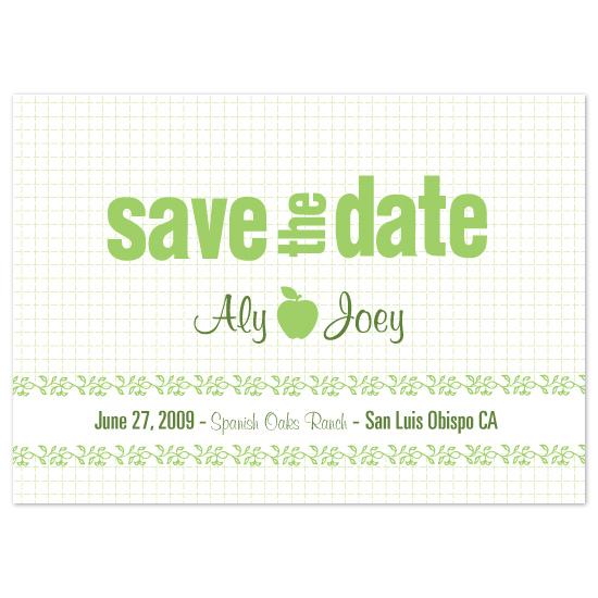 save the date cards - Under the Apple Tree by Natalie Sullivan Graphic Design