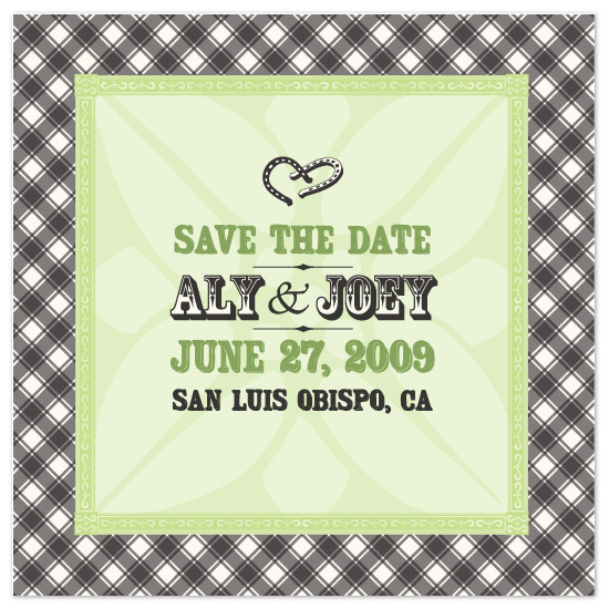 save the date cards - Outdoor ranch by Lynn Bryant