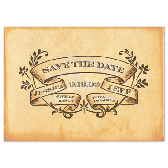 save the date cards - French Farmhouse by Natalie Sullivan Graphic Design