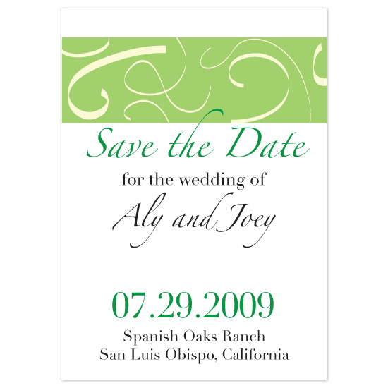 save the date cards - Clean Green by kjwdesigns