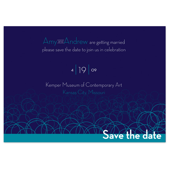 save the date cards - Modern Circles by l