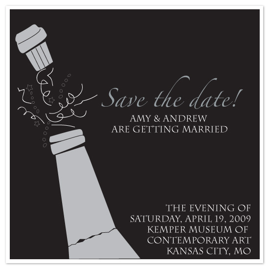 save the date cards - Champagne Toast by Weddings and Wellies
