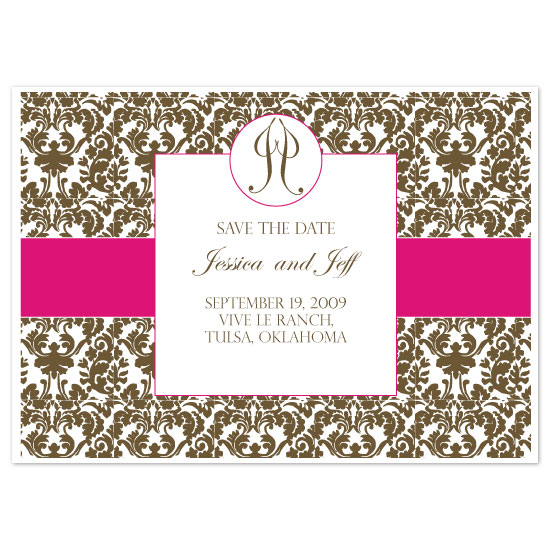 save the date cards - Vintage French Damask by Weddings and Wellies
