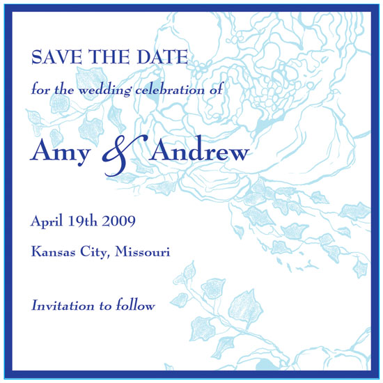 save the date cards - Blue Blossom by Ssongji