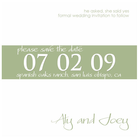 save the date cards - She Said Yes by Grafik Expressions