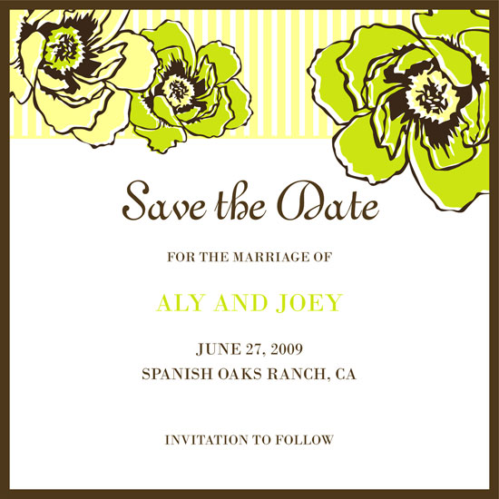 save the date cards - Fun Summer Wedding by Ssongji