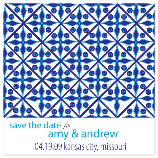 save the date cards - Museum Mosaic by kjwdesigns