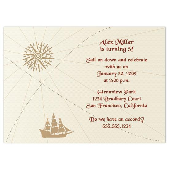 birthday party invitations - Ahoy Birthday Boy! by Zenadia Design