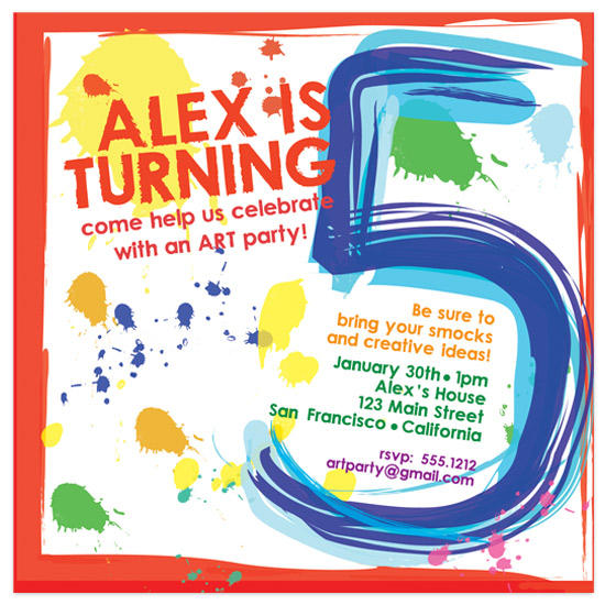 birthday party invitations paint party at minted com