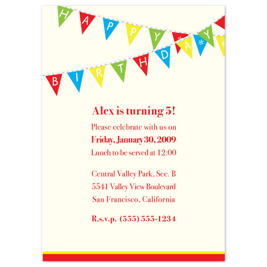 birthday party invitations - Let's Celebrate! by Zenadia Design