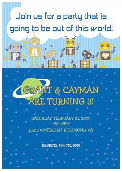 birthday party invitations - Out of this world! by Ssongji