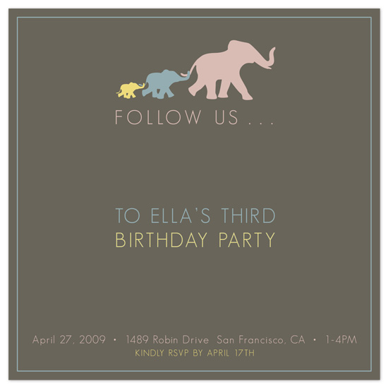 birthday party invitations - Follow the Leader by Sublime Design