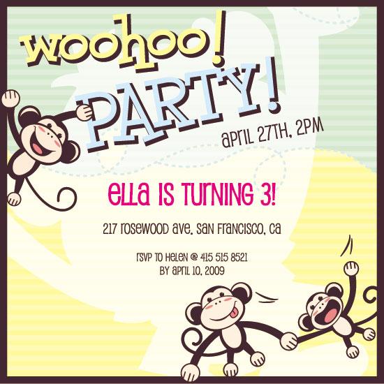 birthday party invitations - woohoo! by Ssongji
